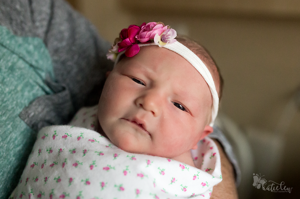 beautiful baby girl is awake