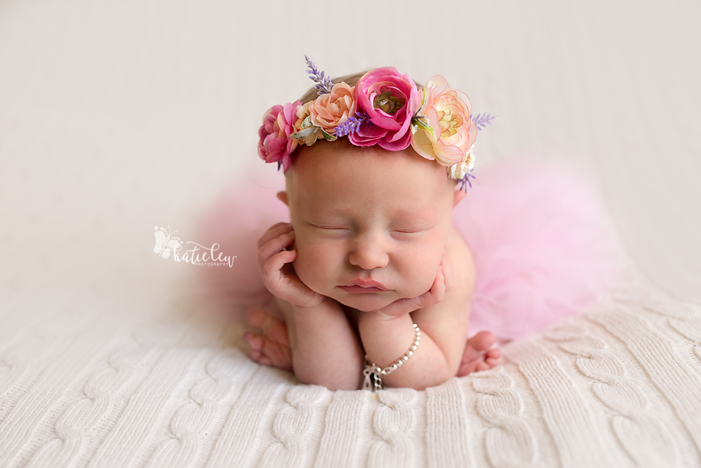 froggy pose baby girl newborn