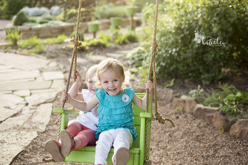 new swing at OSU Botanical Gardens