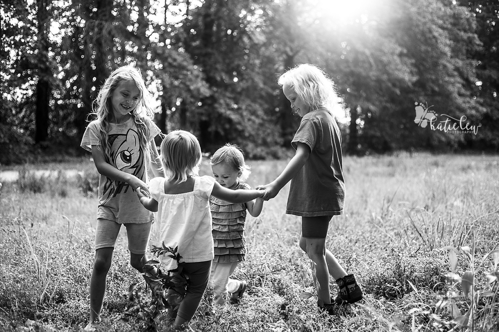 4 sisters playing