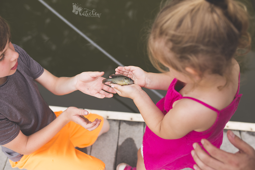 first time holding a fish