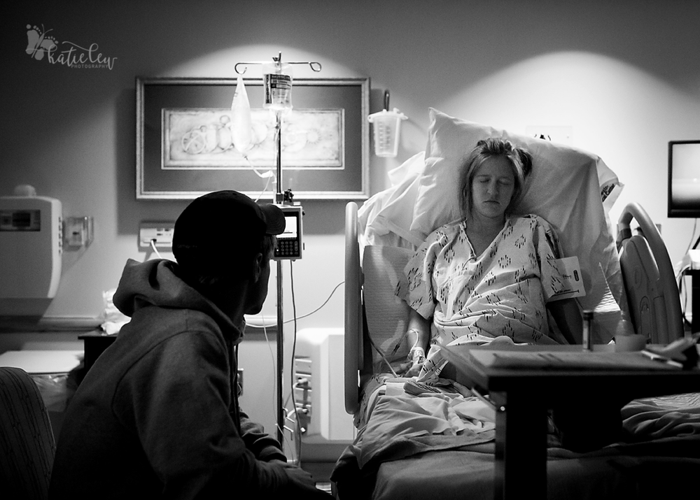 Mother and father rest as they prepare to meet their new baby