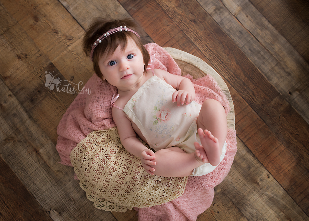 Stillwater Oklahoma baby photographer captures beautiful baby girl with a head full of hair