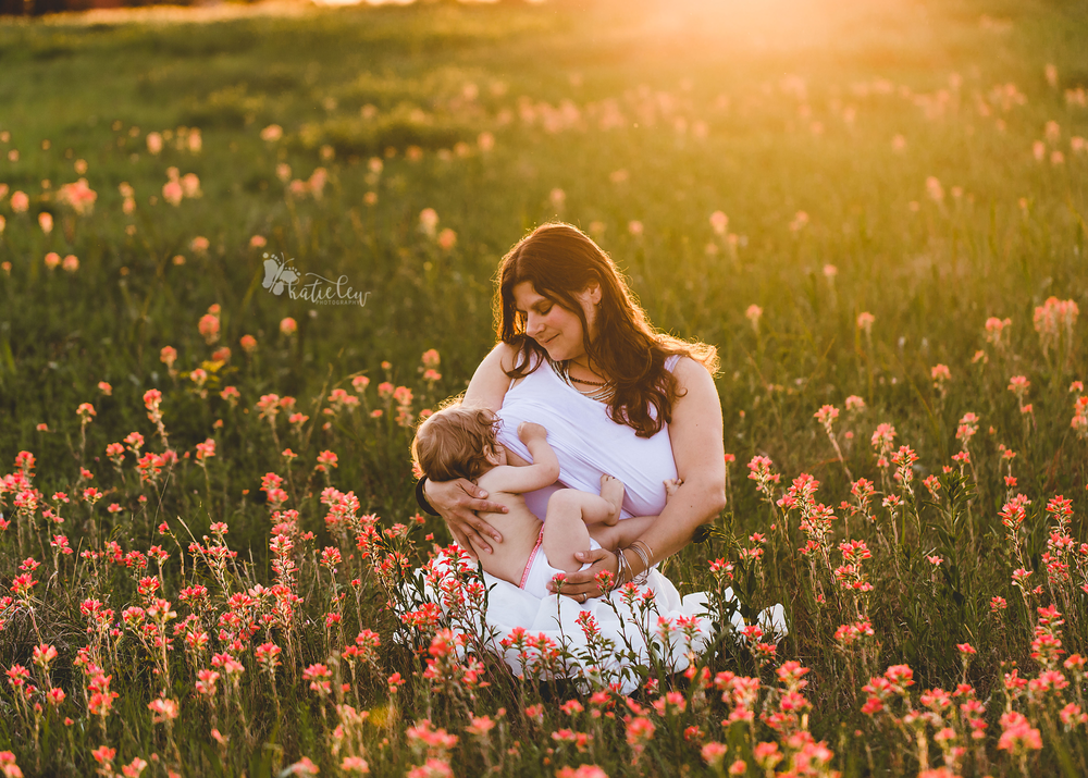 gorgeous backlit breastfeeding photo