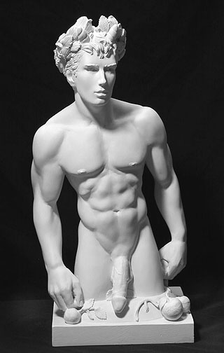 Priapus, the Greek mythological god of fertility & lust.