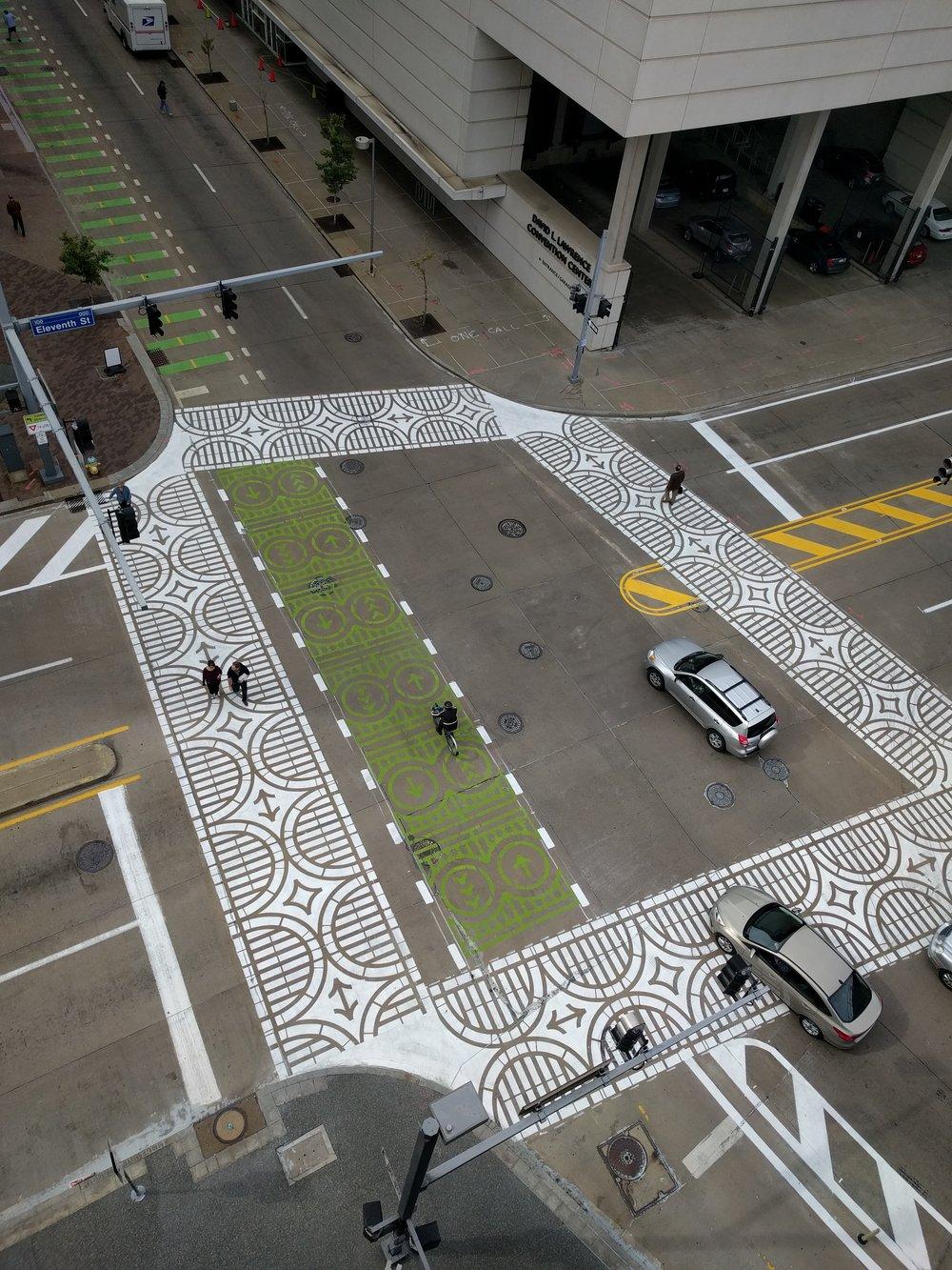 penn 11th traffic calming graphic crosswalks envision downtown