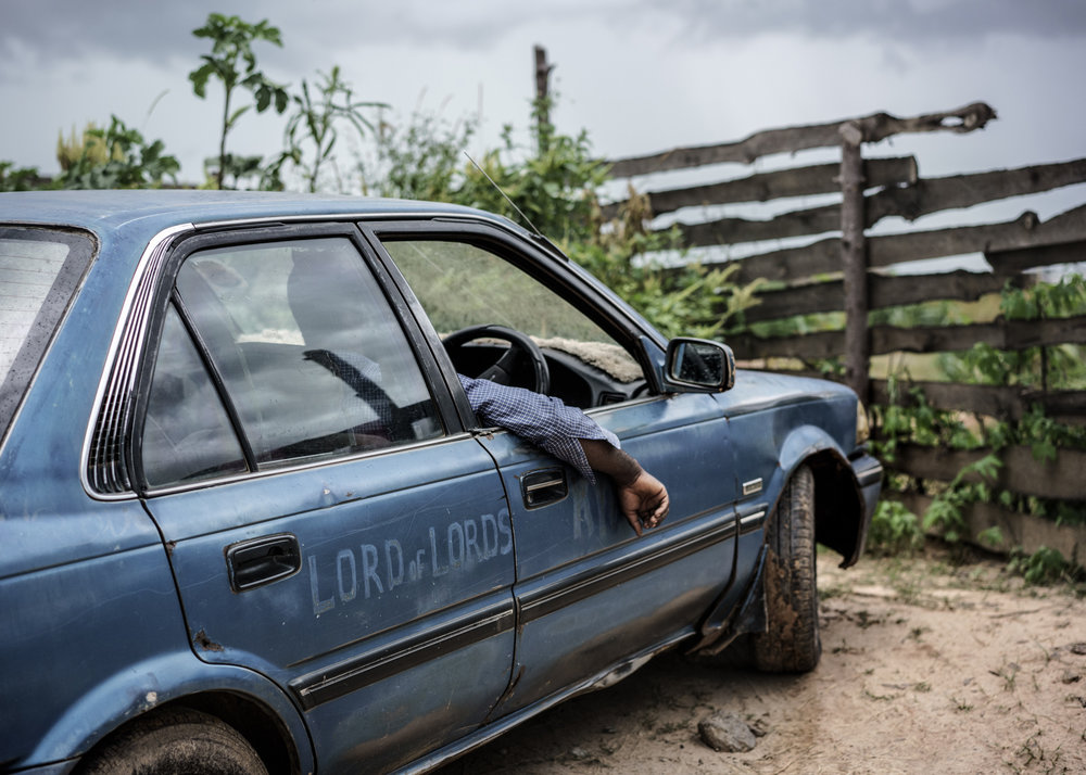 Jesus of Kitwe works as an unlicensed taxi driver. Photo by Jonas Bendiksen / Magnum Photos