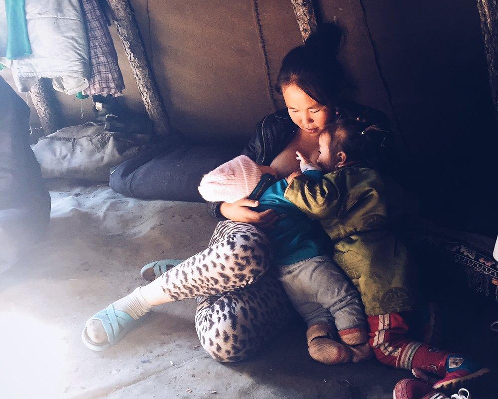 Tsaatan family in Khovsgol, Mongolia.