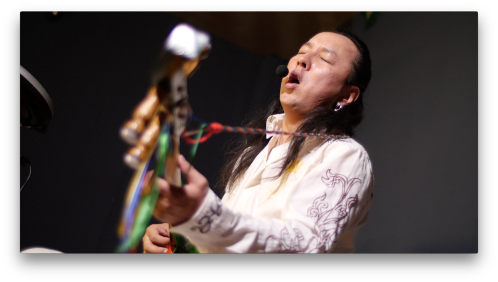 Delehei; multi-instrumentalist throat singer in Hohhot, China