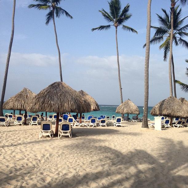 The VIP beach of Majestic Elegance Resort.