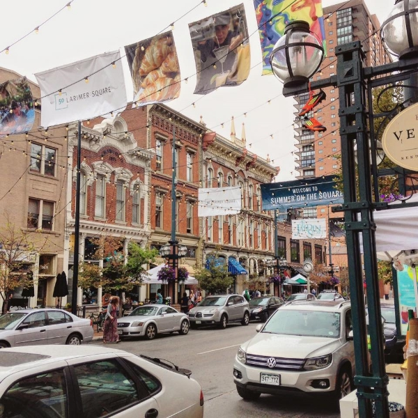 "Larimer Square.  Funny anecdote: While walking down the sidewalk, someone asked me for the time. I replied, ""No, thank you,"" and only a block later realized what they had asked me."