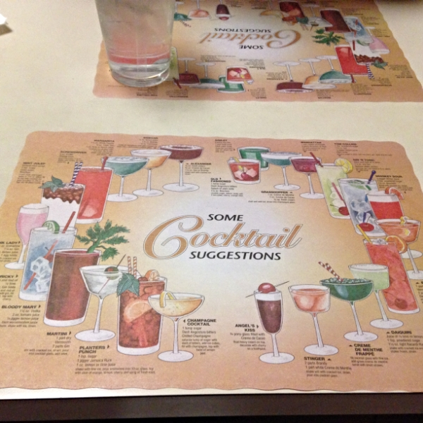 The retro placemats.