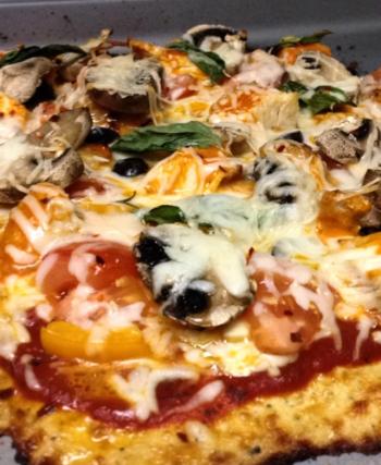 Everything Pizza on Cauliflower crust