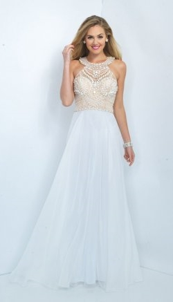 halter neck prom dress