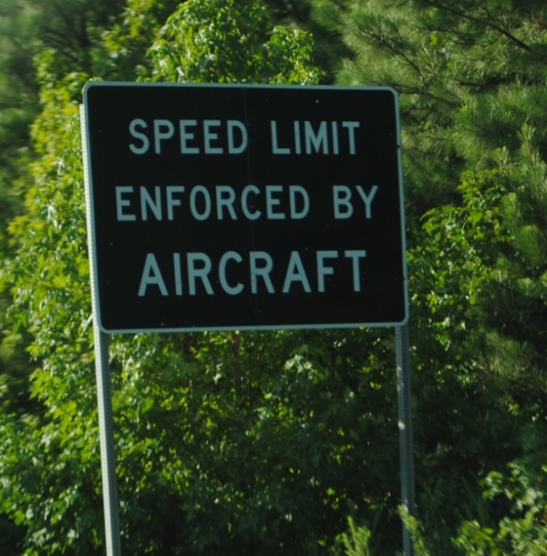 speed limit enforced by aircraft