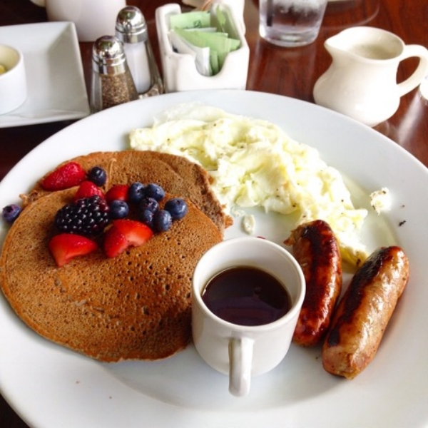 Buckwheat pancakes at The Daily!