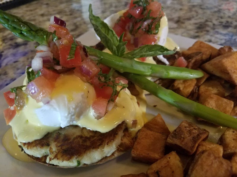 Crab Cake Benedict at 3 Monkeys Bar & Grill