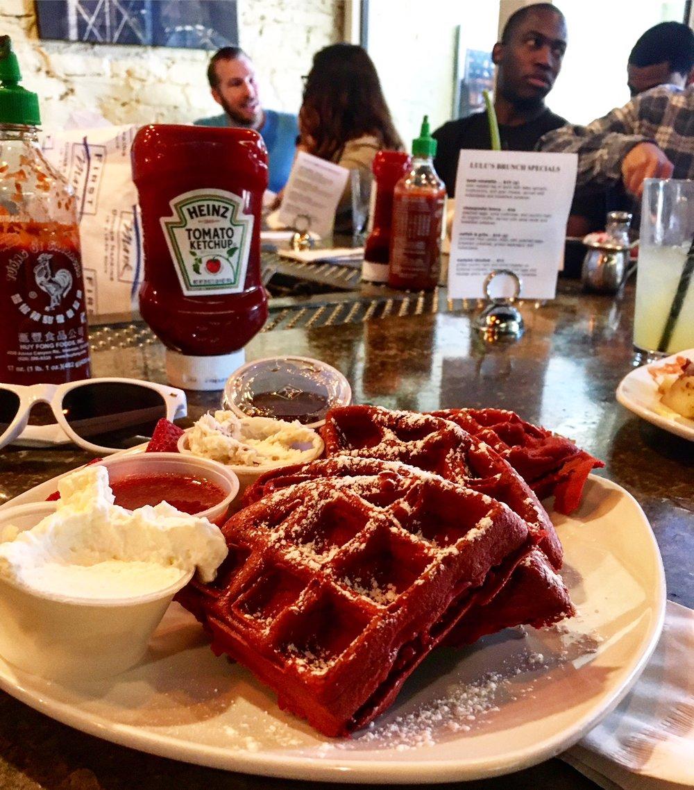 lulus red velvet waffle