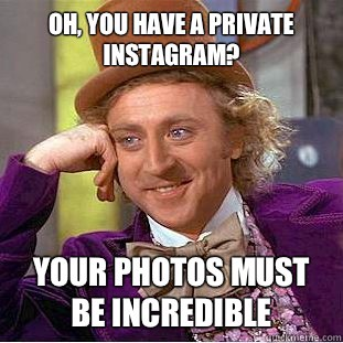 private instagram account