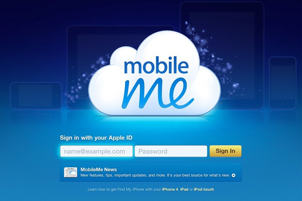 "At launch of mobileMe, Abigail already planted the seed for the iCloud ""brand"" by proposing a cloud for the visual identity."