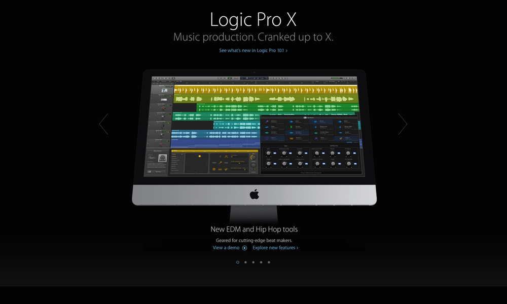 One of Apple's most complex user interfaces,  Logic  is a cutting-edge tool for audio professionals.