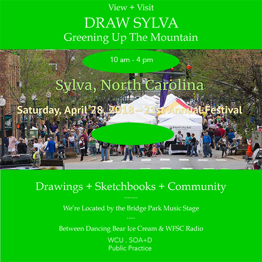 DRAW SYLVA  @  GREENING UP THE MOUNTAIN
