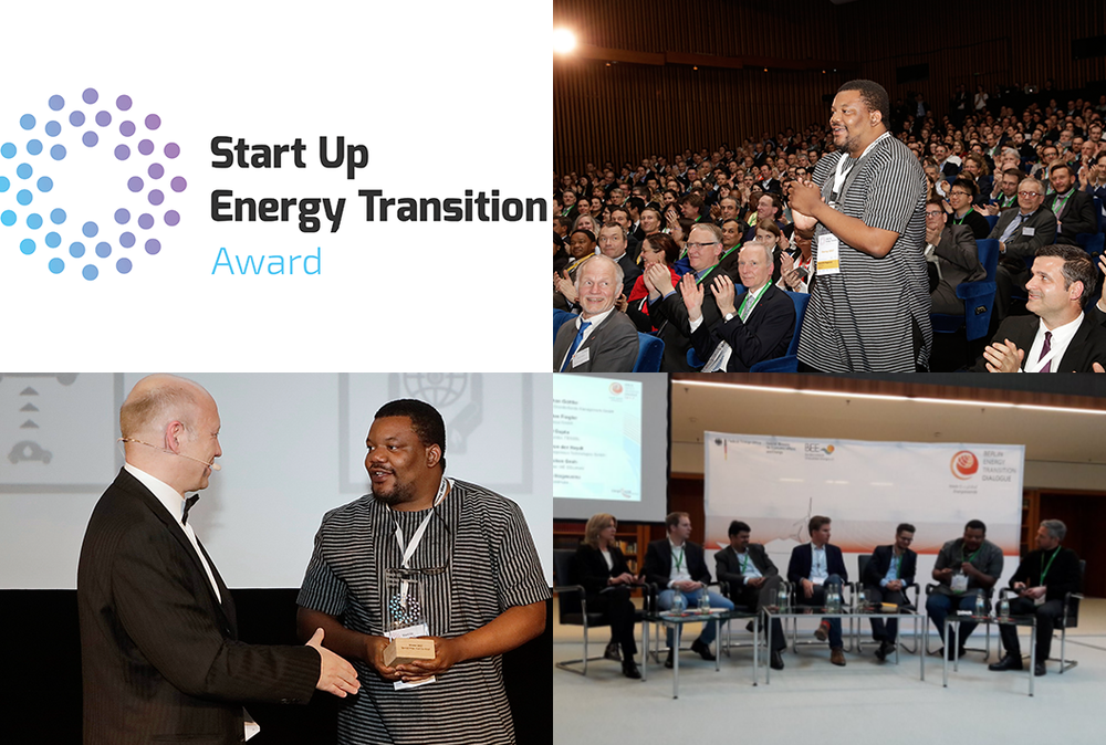 The winners of the 'Start Up Energy Transition Award', presented by the Deutsche Energie-Agentur (dena) – the German Energy Agency – have now been confirmed. Six start-ups from France, Germany, India, Bangladesh and Nigeria(Coldhubs) have received the award, persuading the jury with their innovative ideas for the energy transition and worldwide climate protection. A prestigious international jury chose the start-ups out of more than 500 applications from 66 countries. In total 18 finalists were invited to Berlin to present their ideas and business models at the 'Start Up Energy Transition-Tech Festival', which has brought start-ups together with company representatives from all over the world. More than 100 partners and ambassadors from over 25 countries supported the initiative. Divided into six categories, the awards were presented before an audience of prestigious conference delegates at the evening event of the Berlin Energy Transition Dialogue – the German Federal Government's international energy transition conference.   Presenter of the awards were Patricia Espinosa, General Secretary of the United Nations Framework Convention on Climate Change (UNFCCC): Thomas Birr, Senior Vice President, Innovation & Business Transformation (innogy); Dr Katrin Leonhardt, Director of the Credit Institute for Reconstruction (KfW); Felix Zhang, Group Executive Director of Envision Energy; Adnan Amin, Director General of the International Renewable Energy Agency (IRENA); and Tanja Gönner, Board Spokesperson for the German Corporation for International Co-operation (GIZ).