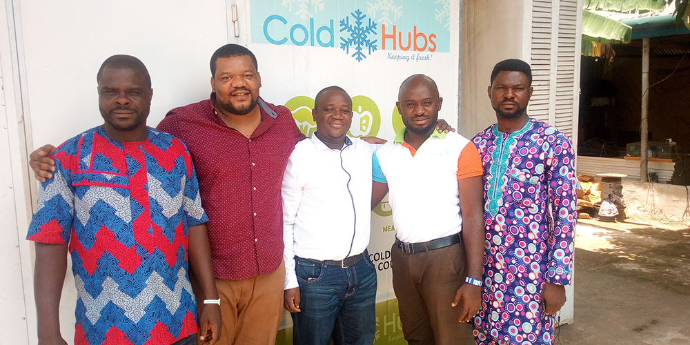 Andrew Tarazid-Tarawali, Portfolio Manager, Acumen West Africa, a non-profit impact investment fund with almost 15 years' experience in small and medium-sized enterprises (SMEs)  stopped over for a visit to ColdHubs.   Andrew was fascinated, witnessing ColdHubs operations first hand.