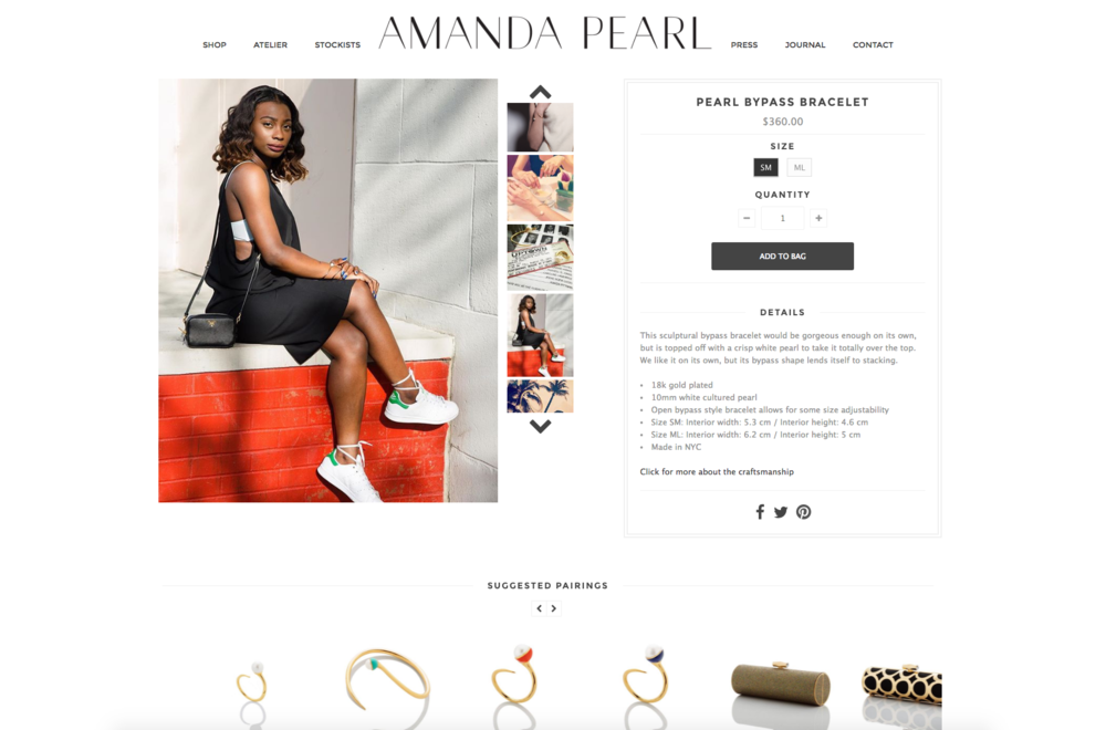 Featured on Amanda Pearl Website