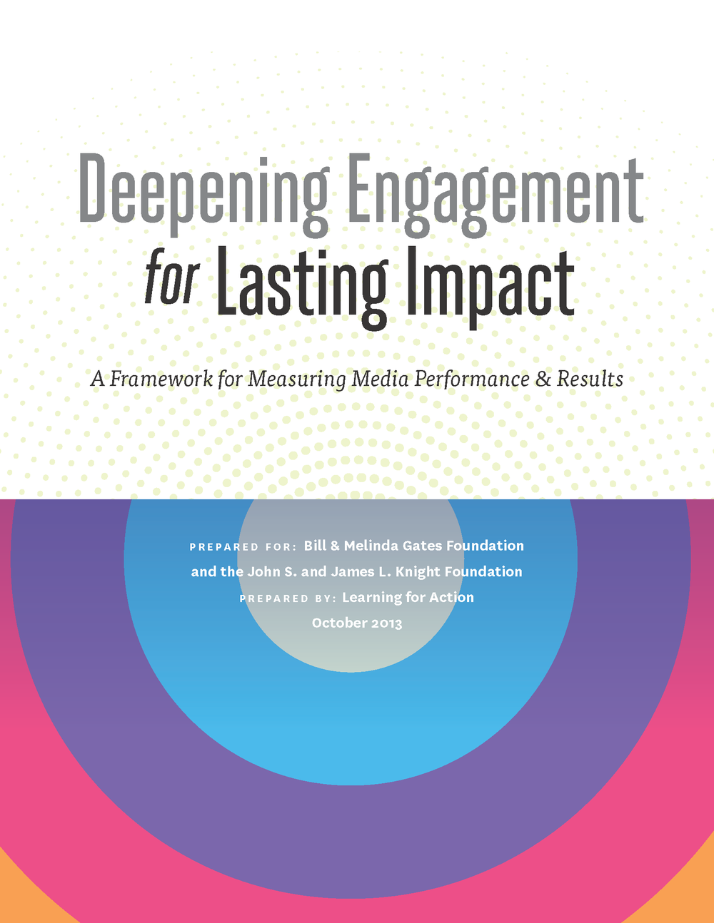 Check out the final product: A framework for measuring media performance and results