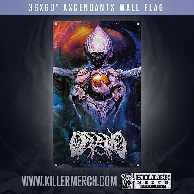 "ASCENDANTS WALL FLAGS are finally here. There are only 150 of these printed, featuring the exclusive 'Ascendants' artwork on a 36x60"" flag via @killermerch . Once they're gone, they're gone forever, so get yours today! Flags will ship 7/27  https://killermerch.com/artist/Oceano/Oceano-Wall"