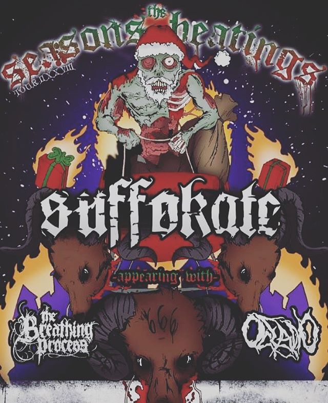 *FLASHBACK* One of Oceano's first times touring the full U.S. Good times & Good memories🤘🏾 #happyholidays #suffokate #thebreathingprocess #oceano #oceanometal