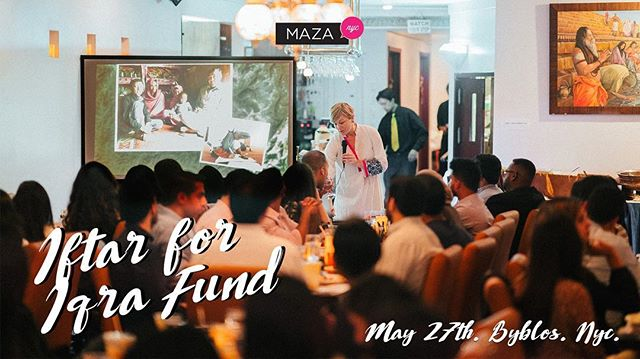 Fun, food & philanthropy in one night: Iftar for Iqra Fund helps young girls in Pakistan 🇵🇰 get an education. Learn more from Genevieve Walsh, founder of @iqrafund and enjoy a Lebanese dinner! 5/27, NYC. Tix on sale now, link in bio 🙌🏽 📸: @yeahokayali #Ramadan2018 #mazanyc