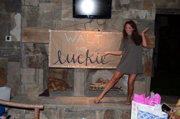 *INSIDE SCOOP* - her future hubby's middle name is Luckie--> hence the sign