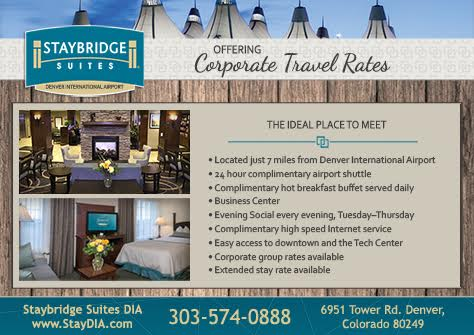 Now Hiring. Please contact:  Amy K Melcher General Manager Staybridge Suites Denver Airport 6951 Tower Road Denver, CO 80249 (303) 574-0888 Hotel (303) 583-1904 Direct (303) 574-1688 Fax