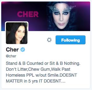 Cher's Twitter