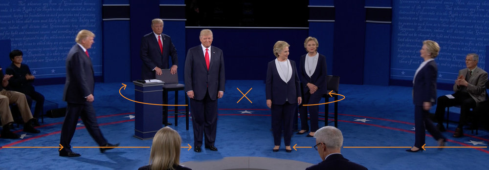 """What two body language experts saw at the second presidential debate"" - The Washington Post"