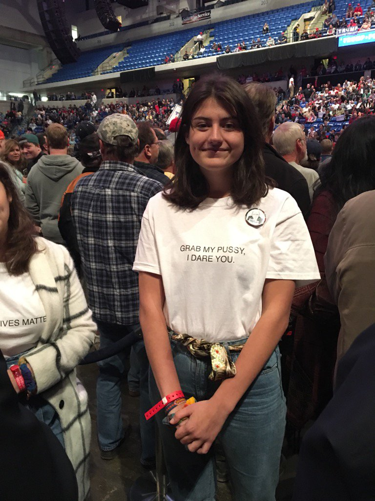 "Why I wore a ""grab my pussy, I dare you"" T-shirt to a Trump rally - MIC"