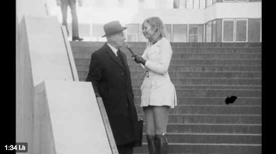 BBC Archive: 1971: Nicky Woodhead pinches men's bottoms, in the name of sexual equality