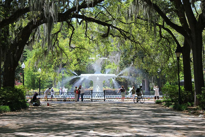FORSYTH PARK IN SAVANNAH, GA.