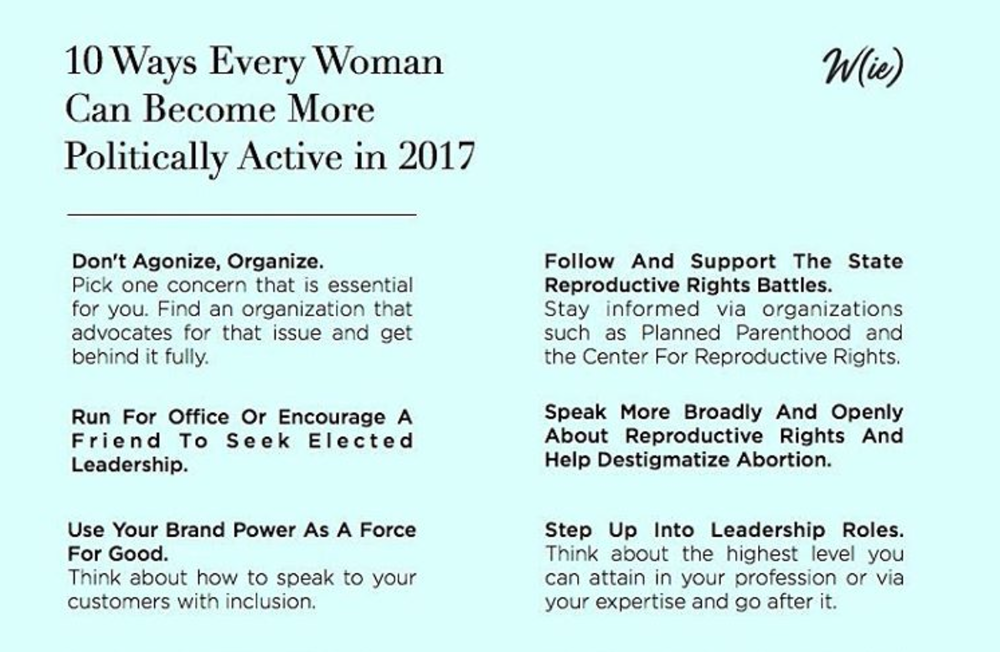 10 Ways Every Woman Can Become More Politically Active in 2017