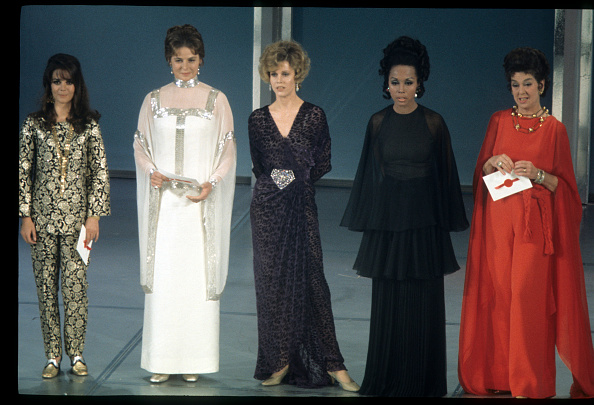 "Presenting the ""Best Director"" award at the 41 st  Annual Academy Awards on April 14, 1969, Natalie Wood, Ingrid Bergman, Jane Fonda, Diahann Carroll and Rosalind Russell prove the importance of personal style."