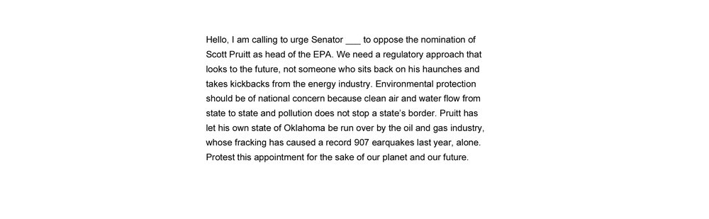 Oppose the Nomination of Scott Pruit