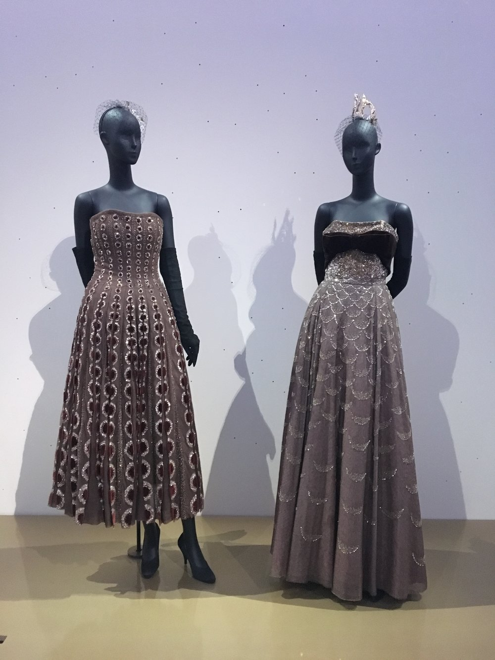 'Esther' (A/W 1952) and 'Mexique' (A/W 1951) by Christian Dior