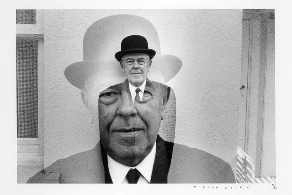 René Magritte by Duane Michals, 1965.
