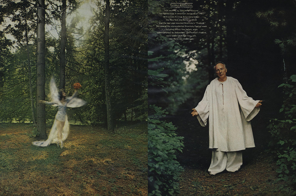 Balanchine and the NYCB for Vogue, December 1972.