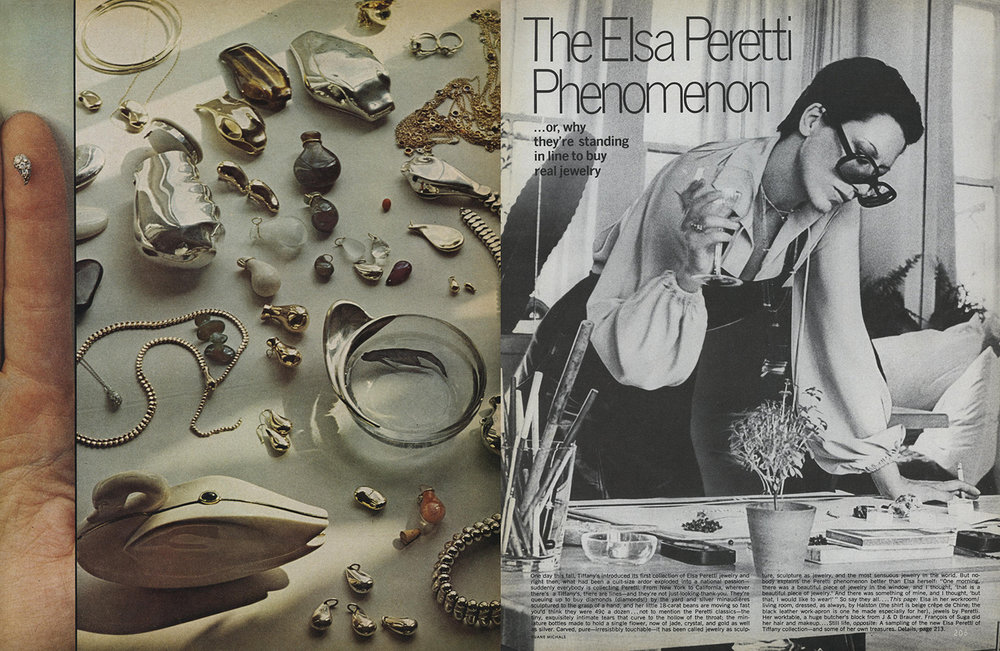 Elsa Peretti for Vogue, December 1974.