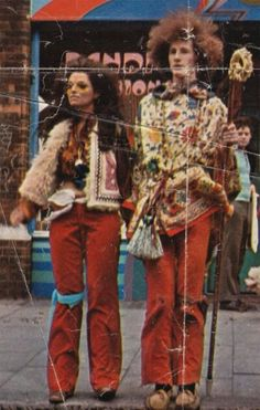 Norma and a friend on London's Kings Road 1970.