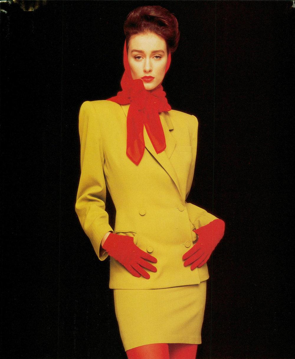 OMO Norma Kamali ad, S/S 1988.