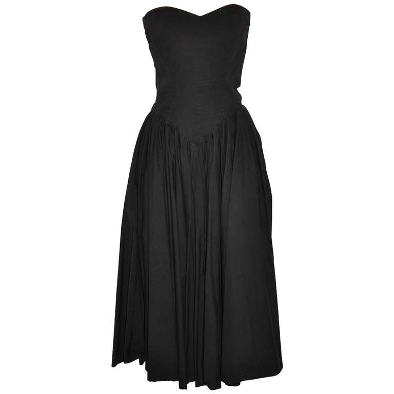 Norma Kamali Black Strapless Dress $385